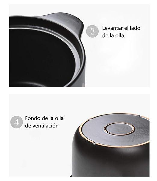 Cerámica De Alta Temperatura Resistente Al Calor Sopa De Cazuela Sopa De Papilla De Avena 6L4L2.5L Cazuela De Moda: Amazon.es: Hogar