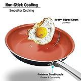 Best Nonstick Pans - Ceramic Frying Pan with Ultra Nonstick Titanium Coating Review