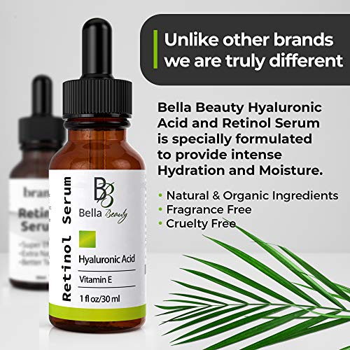51q1Lrwv2yL - Anti Aging Hyaluronic Acid and Retinol Serum 2.5% for Face with Vitamin E For Oily Acne Skin - Best Retinol Facial Moisturizer - Reduce Fine Lines - Wrinkle - Dark Spots - Pure Organic Ingredients