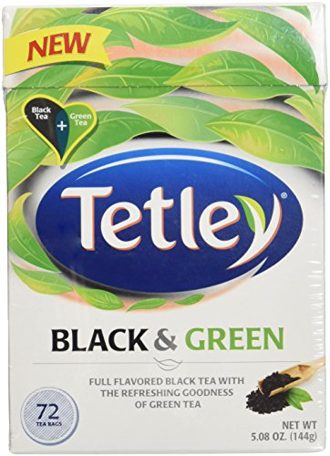 Tetley Tea Bags, Black and Green, 72 Count (6 Boxes (432 ct))