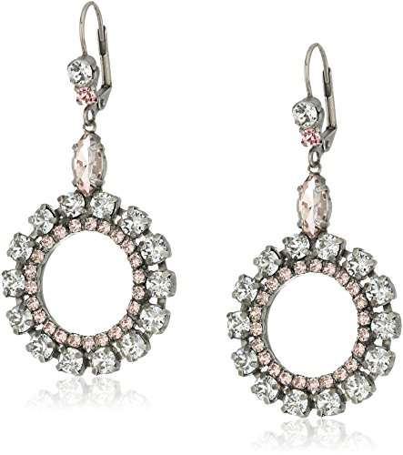 Sorrelli Crystal Rose Luxe Loops Drop Earrings by Sorrelli (Image #1)