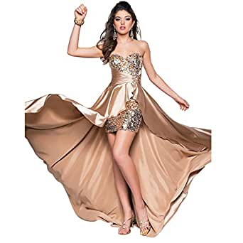 Amazon.com: Carbin Sequined Evening Dresses party full