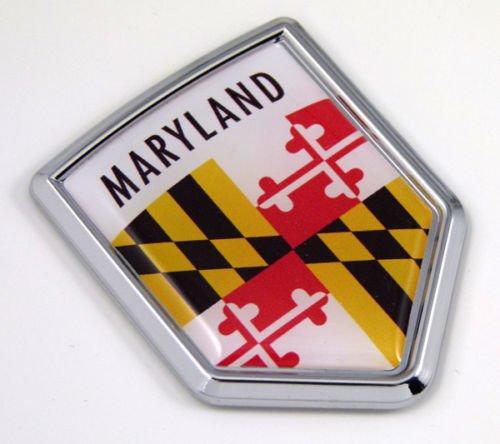 Maryland MD USA State Flag Car Chrome Emblem Decal Sticker Bike Laptop Boat 3dd Sticker - Maryland Peel