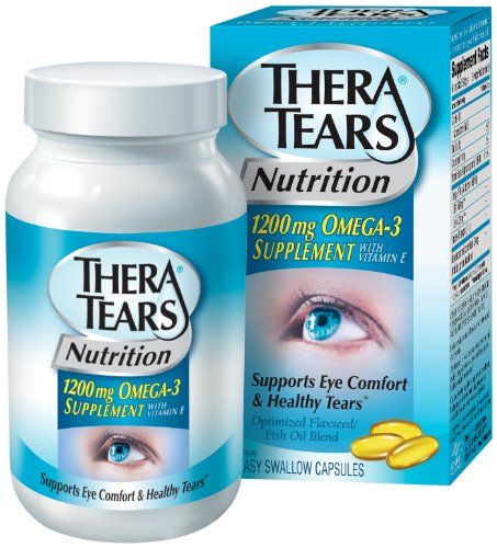 Thera larmes nutrition, capsules 1200mg Supplément oméga-3, 90-Count