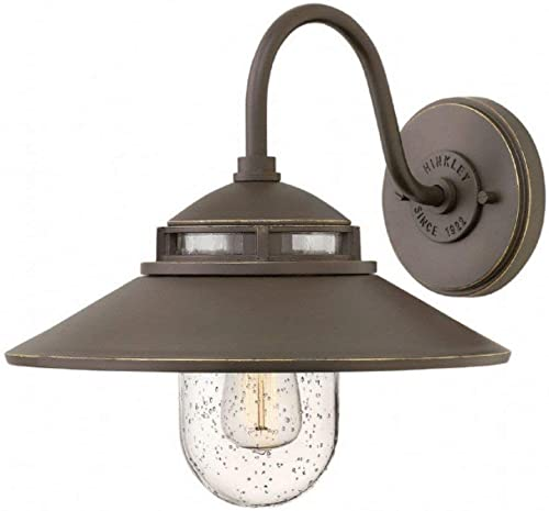 Hinkley 1110OZ Restoration One Light Outdoor Wall Mount from Atwell collection in Bronze Darkfinish,
