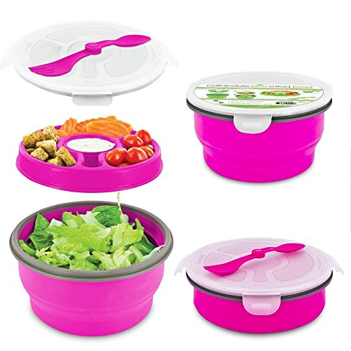 Smart Planet Eco Collapsible Salad Bowl, 64 oz, Pink by Smart Planet