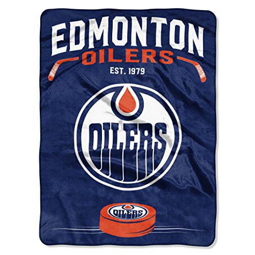 Edmonton Oilers Mascot (Officially Licensed NHL Edmonton Oilers Inspired Plush Raschel Throw Blanket, 60