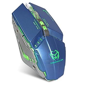 zonyee Gaming ratón ergonómico USB Wired Gaming ratón con 3200 ppp ajustable alta precisión 8 teclas de función macro definición LED óptico para portátil PC ...