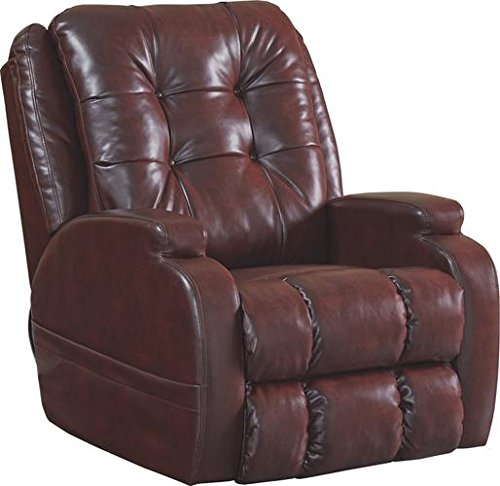 Catnapper Jenson Power Lift Full Lay-Flat Recliner with Comfort Coil Seating Featuring Comfor-Gel - 'Dual Motor' Comfort Function - Plush Multi-Channel Seat - Burgundy - Weight Capacity 400 lb.