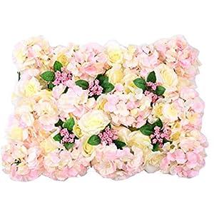 YNFNGXU Artificial Flower Wall Panel Wedding Venue 40x60cm Silk Flower Background Home Garden Decoration (Color : 02, Size : 40x60cm) 7