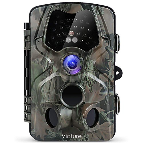 - 【Upgraded】Victure Trail Game Camera 1080P 12MP Wildlife Hunting Camera with 120 ° Wide Angle, 20m Night Vision Infrared, IP66 Waterproof Design, 2.4