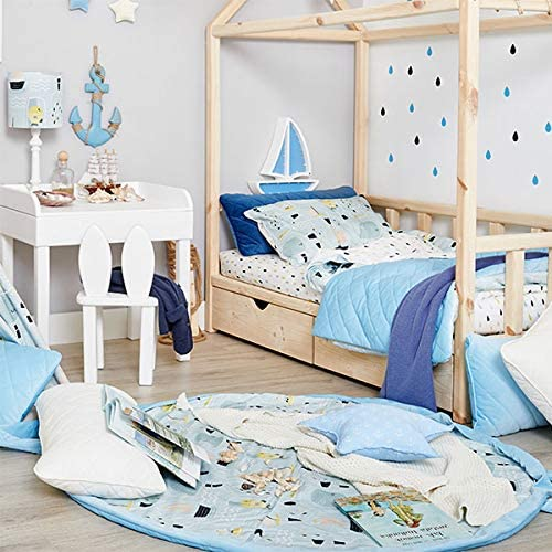 Fish in Jar FUNwithMUM Baby Bedding Set with Pillow Warm Filling Inside Soft and Cozy High Quality Cotton Swaddle Nursery Baby Newborn for Stroller Cot