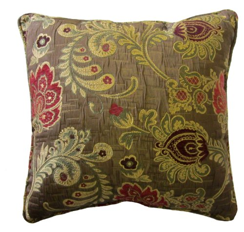 Best Decorative Pillow Websites : Burgundy Floral Brocade Decorative ? ? Collection Collection - us529