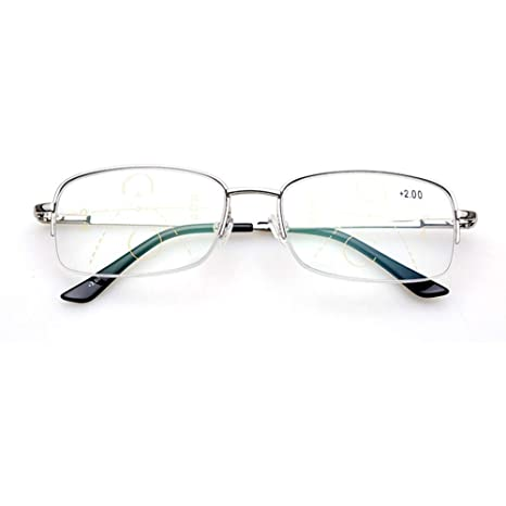 Accessories Gafas De Lectura para Hombres Y Mujeres, Medio Marco ...