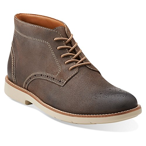 Clarks Mens Raspin Limit, Taupe Scamosciato