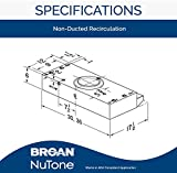 Broan Economy UC 190 CFM 30N White Cabinet Range