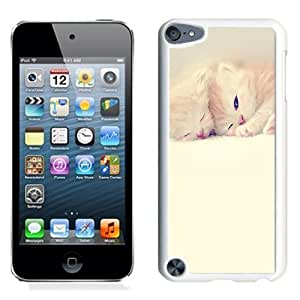 NEW Unique Custom Designed iPod Touch 5 Phone Case With Sleeping Cute Kittens Lockscreen_White Phone Case
