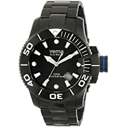 Yema Men's YMHF0303 Sous Marine Analog Display Japanese Automatic Black Watch