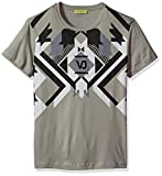 Versace Jeans Men's Optical Graphic Tee, Grey Dove, M