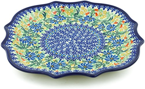 Daisy Platter (Polish Pottery 10½-inch Platter made by Ceramika Artystyczna (Happy Daisy Theme) Signature UNIKAT + Certificate of Authenticity)
