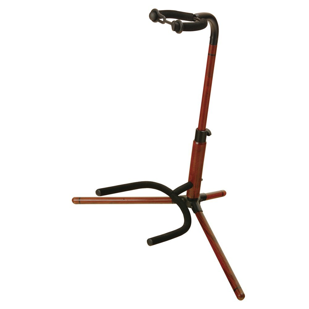 On-Stage WGS100 Wooden Guitar Stand, Rosewood Finish by OnStage