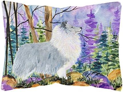 Caroline s Treasures SS8636PW1216 Sheltie Decorative Canvas Fabric Pillow, 12H x16W, Multicolor