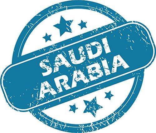 Saudi Arabia Grunge Stamp Home Decal Vinyl Sticker 14