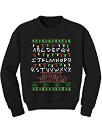 Expression Tees Strange Merry Christmas Ugly Holiday Crewneck Sweatshirt