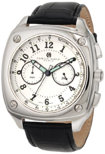 Charles-Hubert, Paris Men's 3856 Premium Collection Stainless Steel Chronograph Watch