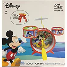 Disney Mickey Mouse Acoustic Jazz Drum Set with Stool and Drum Sticks