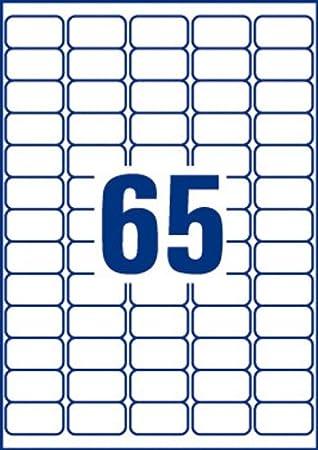 Avery 780 Etiquettes Mini Autocollantes (65 Par Feuille) - 38,1x21 ...