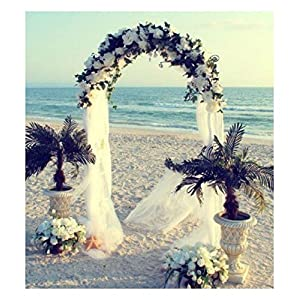 WHITE METAL ARCH 7.5 FT for Wedding Party Bridal Prom Garden Floral Decoration 1