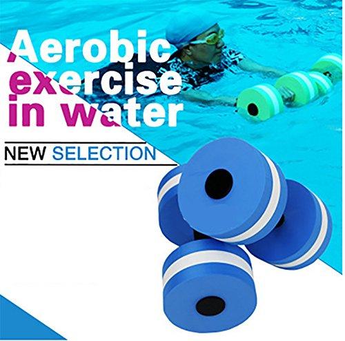 Wuudi Mancuernas de espuma para ejercicios de aeróbico de agua para adulto, resistencia a la piscina, equipo de ejercicios de fitness para pérdida de peso, ...