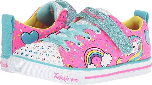 Sparkle LITE-Unicorn Craze Sneaker, neon Pink/Multi, 2 Medium US Little Kid ()