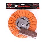 #7: Renegade Products Cutting 8 Inch Airway Buffing Wheel And Tripoli Compound Set For Polishing Aluminum Wheels, Fuel Tanks, Fenders & Bumpers, 2 Item Pack (Cutting Combo)