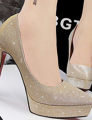 ShangYi Damenschuhe - High Heels - Hochzeit / Kleid - Glanz - Stöckelabsatz - Absätze - Schwarz / Blau / Rosa / Silber / Grau / Gold gray