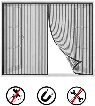 pour Fen/êTre ou Porte Moustiquaire Fen/êTre Noire de Rideau de Moustiquaire avec Aimant Auto-Adh/éSif Rideau en Maill