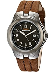 Timex Mens T49631 Expedition Metal Tech Brown Leather Strap Watch
