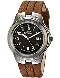 Men's T49631 Expedition Metal Tech Brown Leather Strap Watch