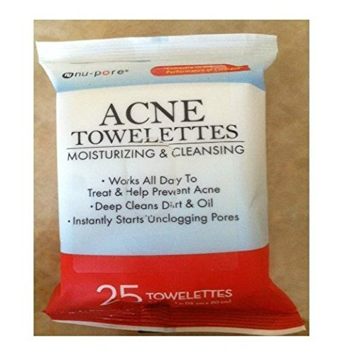 - NU-PORE Acne Moisturizing and Cleansing Towelettes 25 Count