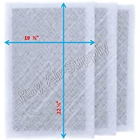 Dynamic Air Cleaner Replacement Filter Pads 21 x 25 Refills (3 Pack) White