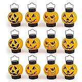 JOYIN 1 Dozen Halloween Light Up Pumpkin Lanterns for Best Halloween Decorations Props