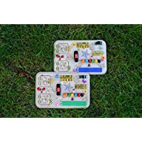 Personalized Toy Busy board Gift 1st Baby gifts 2nd Birthday Travel toys Baby toys Busyboard Sensory toys Activity for Baby Latch Board