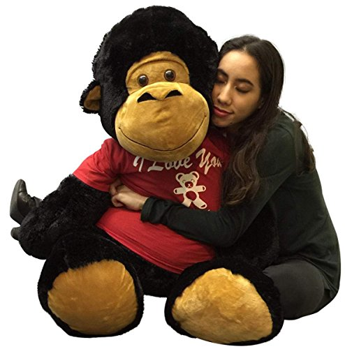 Big Stuffed Gorilla 48 Inches Soft Black 4 Feet Tall I Love You This Much