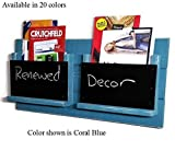 Renewed Décor Farmhouse Rustic Double Mail Slot Organizer Featuring 2 Chalkboard Mail Bins available in 20 Colors.