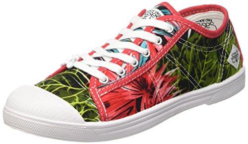 Le Temps des CerisesLtc Basic 02 - Zapatillas de deporte, Mujer Multicolor - Multicolore (Palm)