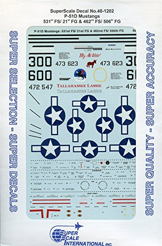 Super Scale Decals - SuperScale Decals 1:48 P-51D Mustangs 531st FS/21st FG 462nd FS/506th #48-1202