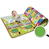 Swarish 100% Waterproof, Double Side Baby Play & Crawl Mat (Size- 150cm x 180cm)