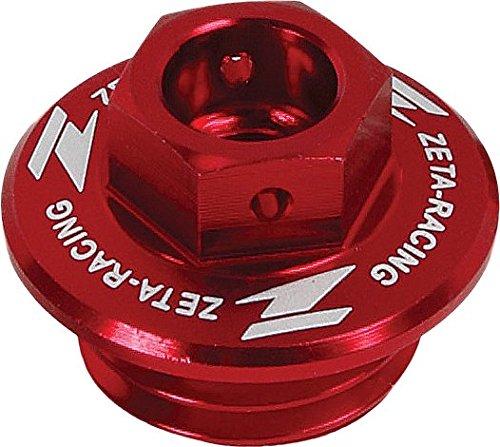 - ZETA Anodized Aluminum RED Oil Filler Plug RM RMZ 01-13, LTR450R 06-09