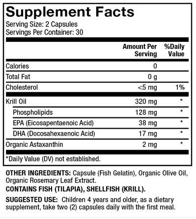 Dr. Mercola Antarctic Krill Oil, 30 Servings (60 Capsules), MSC Certified, non GMO, Soy-Free, Gluten Free